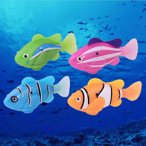 Robot Fish Activated Toy Robotic Pet Gift Fish Tank Aquarium