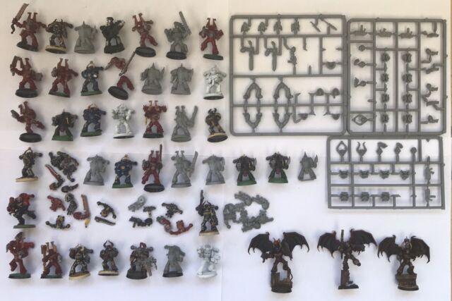 "Citadel / GW WH40k plastic "" Chaos Space Marines Lot "" Spares Repairs Etc"