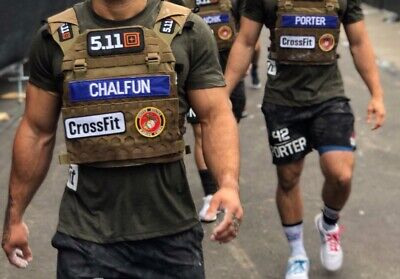 "1x Custom Name Patch 9""x2"" CrossFit Games Murph Cross Training Hook And Loop *"