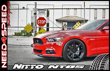 """19"""" Project 6GR Black Wheels & Tires Nitto Invo NT05 for Mustang S550 S197 GT"""