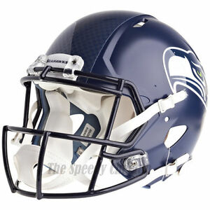 Image is loading SEATTLE-SEAHAWKS-RIDDELL-NFL-FULL-SIZE-AUTHENTIC-SPEED- 5c2f3158b62