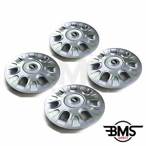 new bmw mini one cooper s 15 silver wheel trim hub cap set x4 r50 r56 ebay. Black Bedroom Furniture Sets. Home Design Ideas