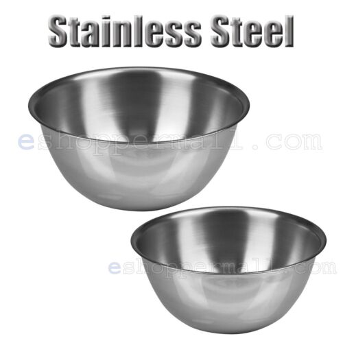 Mixing Bowl 3 PC Set Stainless Steel Kitchen Cook Bakeware Food Serving 3 Sizes