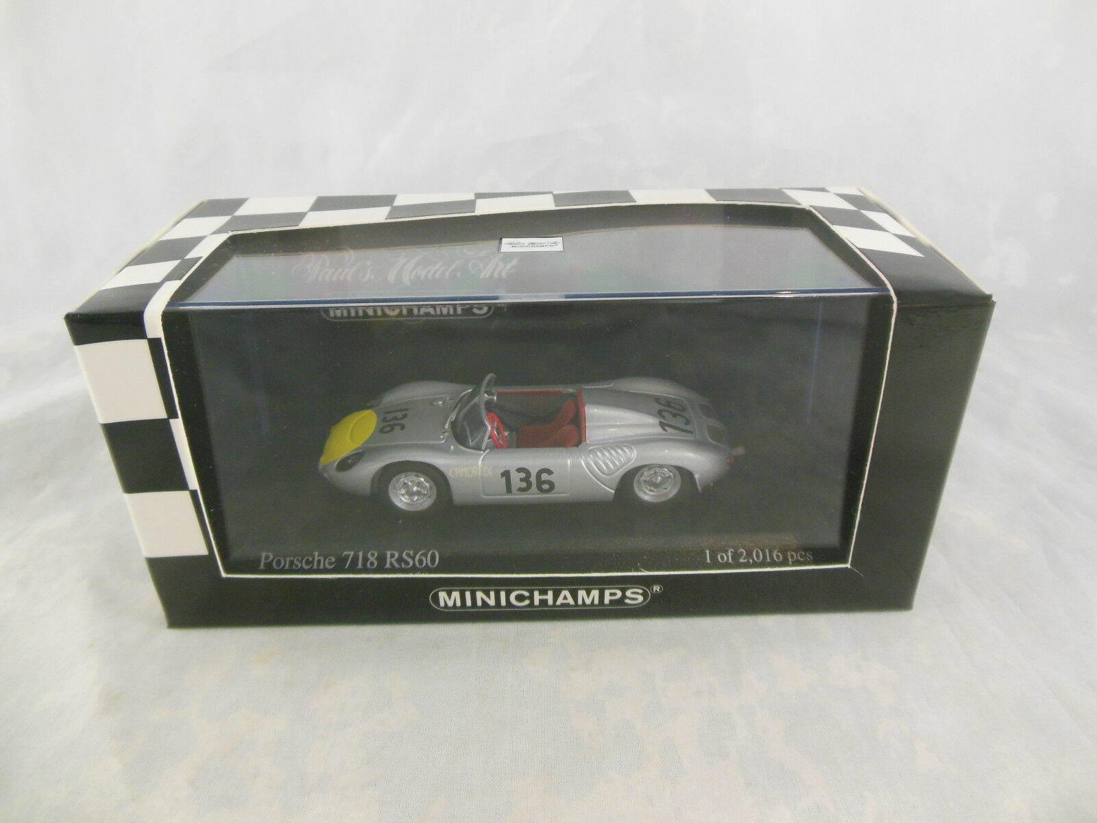 Scarse Minichamps 430 616896 PORSCHE 718 RS60 TARGA FLORIO 1961 Ltd Edition