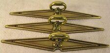 6 Vintage Brass Handles Pulls Knobs Cabinet Furniture Hardware