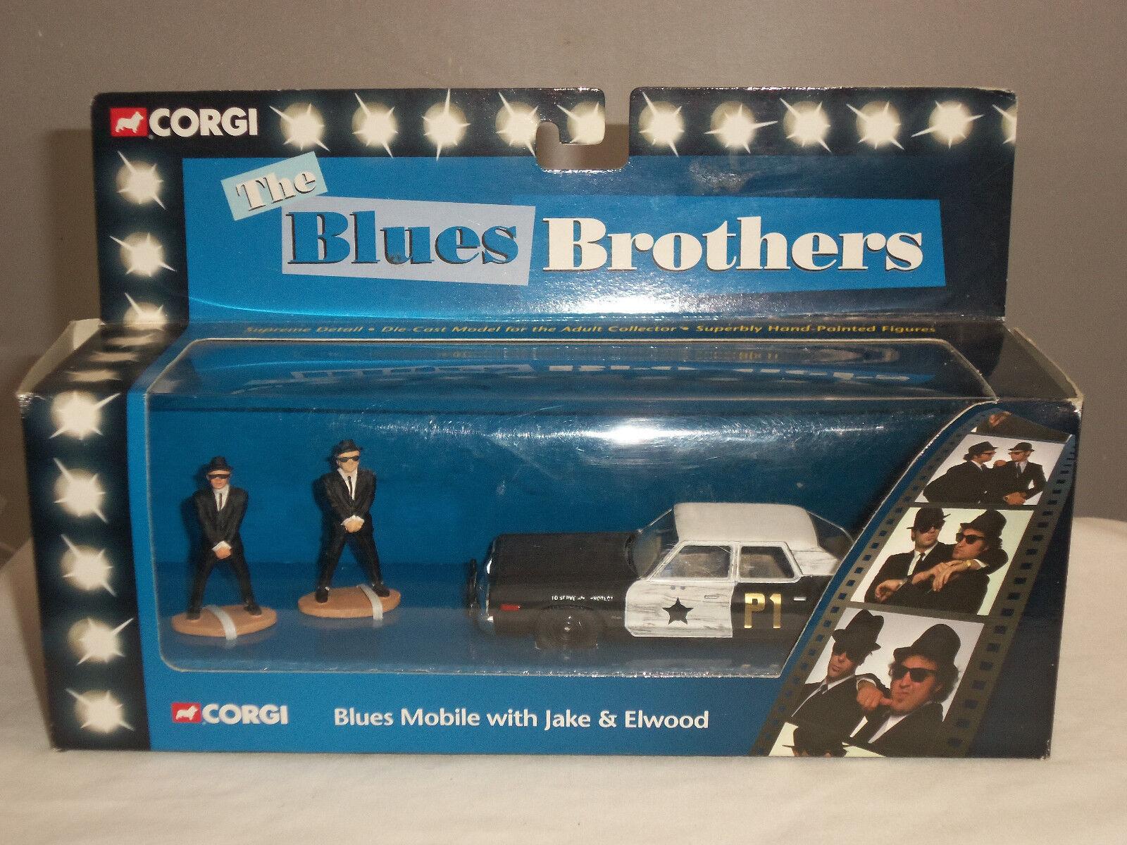 Corgi 06001 azuls Brojohers móvil Diecast Modelo Coche + Jake + Elwood figuras