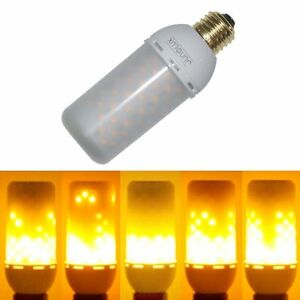 Junolux led burning light flicker flame light bulb fire effect image is loading junolux led burning light flicker flame light bulb mozeypictures Gallery