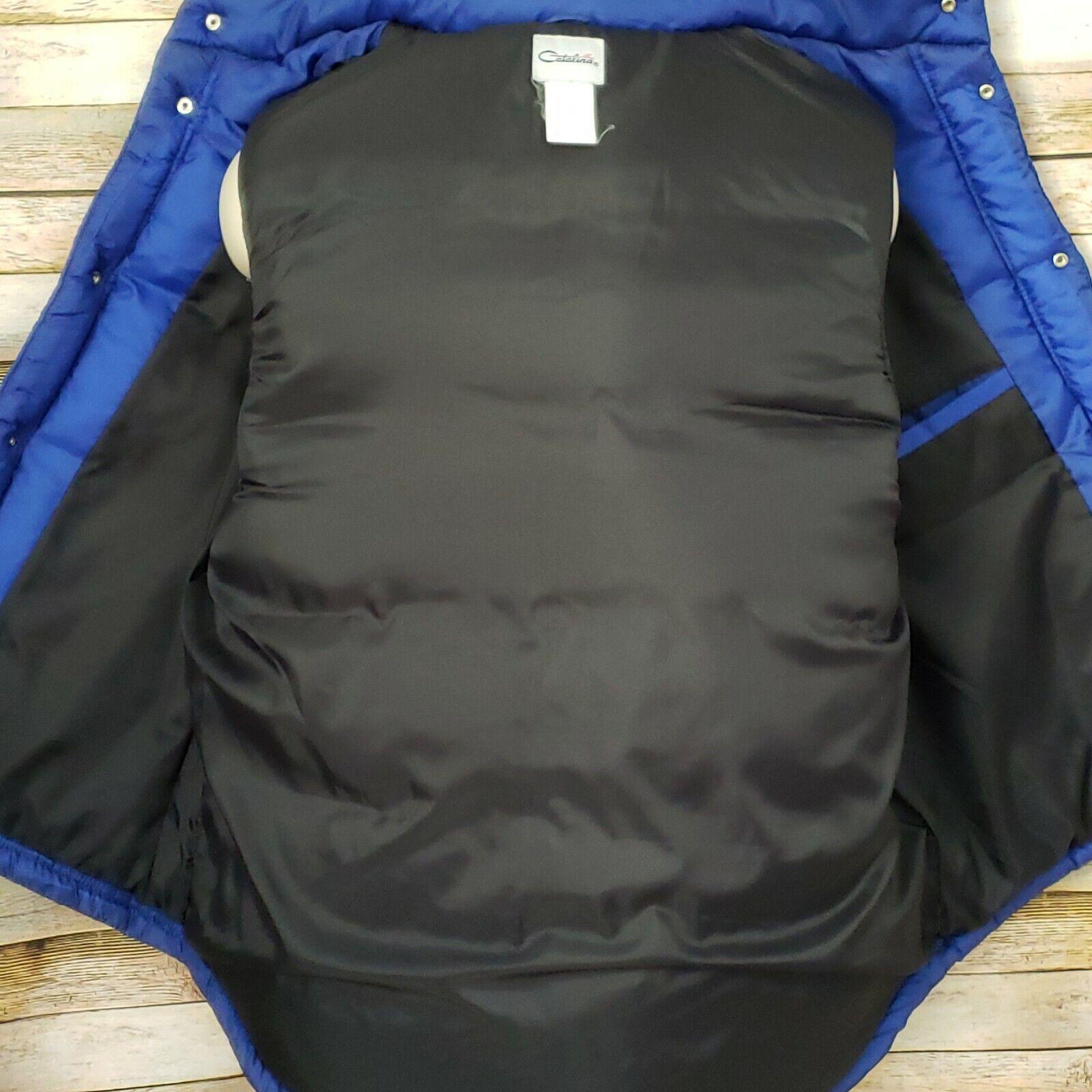 Mens Catalina Blue Goose Down Vest Size Large Sna… - image 3