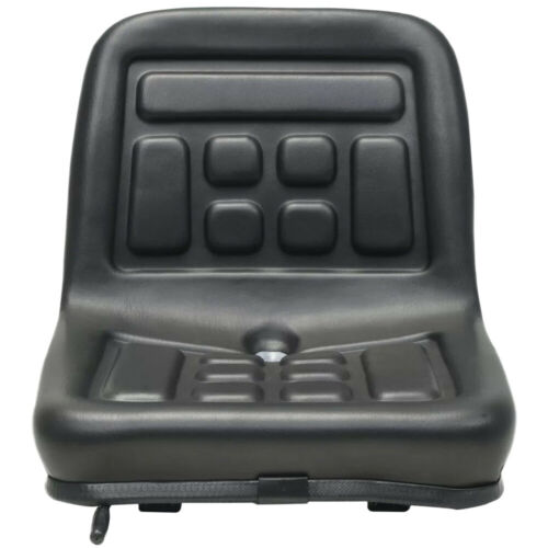 Black Waterproof Mower Tractor Deluxe Seat with sliding tracks and drain hole US