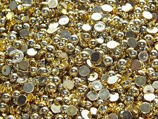 Candycabsuk 20g 500 un. mixed Flatback Perlas de Imitación La Mitad comprar a granel Oro metálica en Hazlo tú mismo