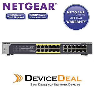 *NEW* NETGEAR JGS524PE ProSAFE Plus Desktop 24 Port Gigabit Switch with 12 PoE