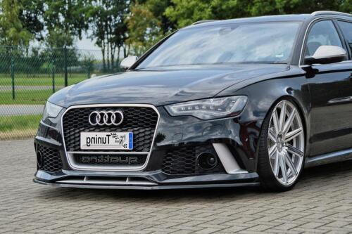 FRONT SPOILER Cup spada da ABS per Audi rs6 4g c7 dal anno 2013