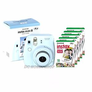 Fuji instax mini 8 blue Fujifilm instant camera + 50 film | eBay