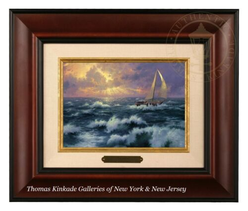 Thomas Kinkade Perseverance Framed Brushwork Burl Frame