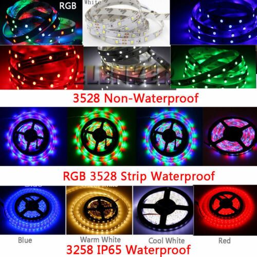 5M 300LED SMD 3528//5050//5630 RGB//White Flexible Strip Light+Remote+Power Supply