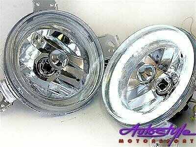 G1 Headlights with Neon Angel Eye Ring  -sold as a pair  suitable for VW MK1 , Golf 1, Volkswagen Go