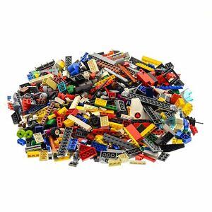 600-Teile-Lego-System-Steine-Kiloware-bunt-gemischt-0-80-kg-z-B-Raeder-Fenster