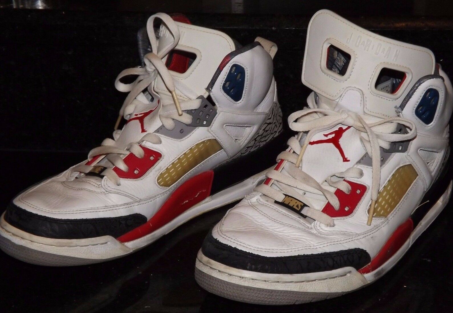 Nike Air Jordan 315371-165 Men's Spizike White/Red/Black 2009 Price reduction