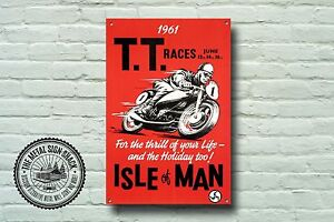 Motorbike Isle Of Man T T Races Metal Sign Motorcycle Advertising 957