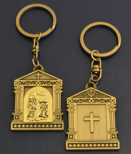 Orthodox Key Ring Different Shapes /& Designs Cross Bell Round Schlüsselanhänger