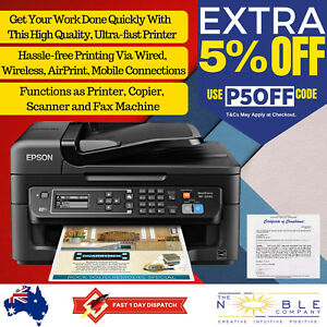 Details about 4in1 Inkjet Printer Epson Workforce All In One Wireless USB  Scanner Copier Fax