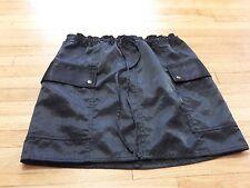 Express Black Shiny Mini Skirt Size Small Cargo style pockets Elastic waist