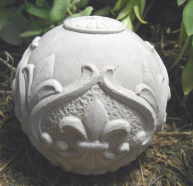 new latex fleur small garden ball cement plaster mold casting garden mould