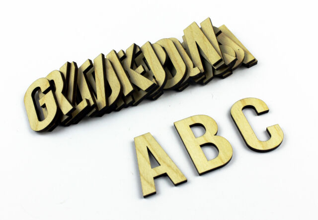 Set of 26 MEDIUM Wooden Alphabet Letters/ Plain/ Wall Hanging/ Nursery Decor