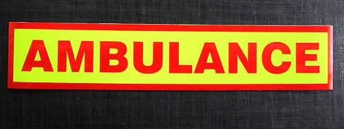 Ambulance Reflective Fluorescent Magnetic Sign