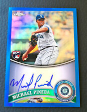 #170/199 Michael Pineda 2011 Topps Chrome Blue Refractor Auto RC #174