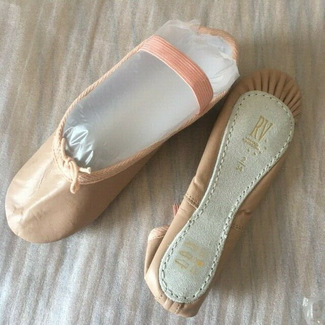 Pink Leather Ballet Shoes by Roch Valley size 2 UK 34 EUR