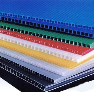 6mm 18 x 48 Black Blue Clear or Yellow Coroplast Corrugated Plastic Sheet (4pk)