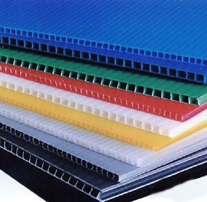 6mm 24 x 48 Black Blue Clear or Yellow Coroplast Corrugated ...