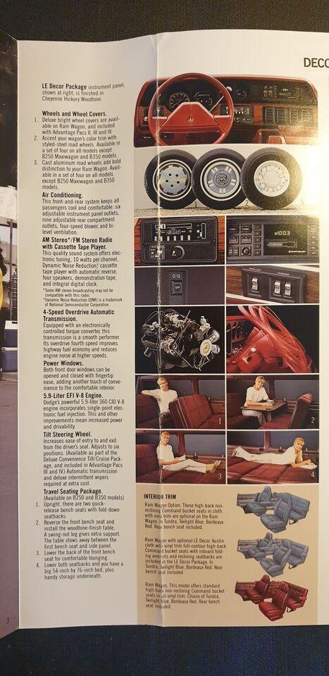 Brochure, Dodge RAM Wagon
