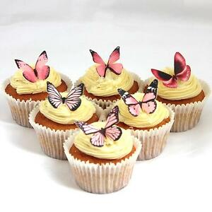 Cakeshop-PRECUT-12-Light-Pink-Edible-Butterfly-Cake-Cupcake-Toppers-Decorations
