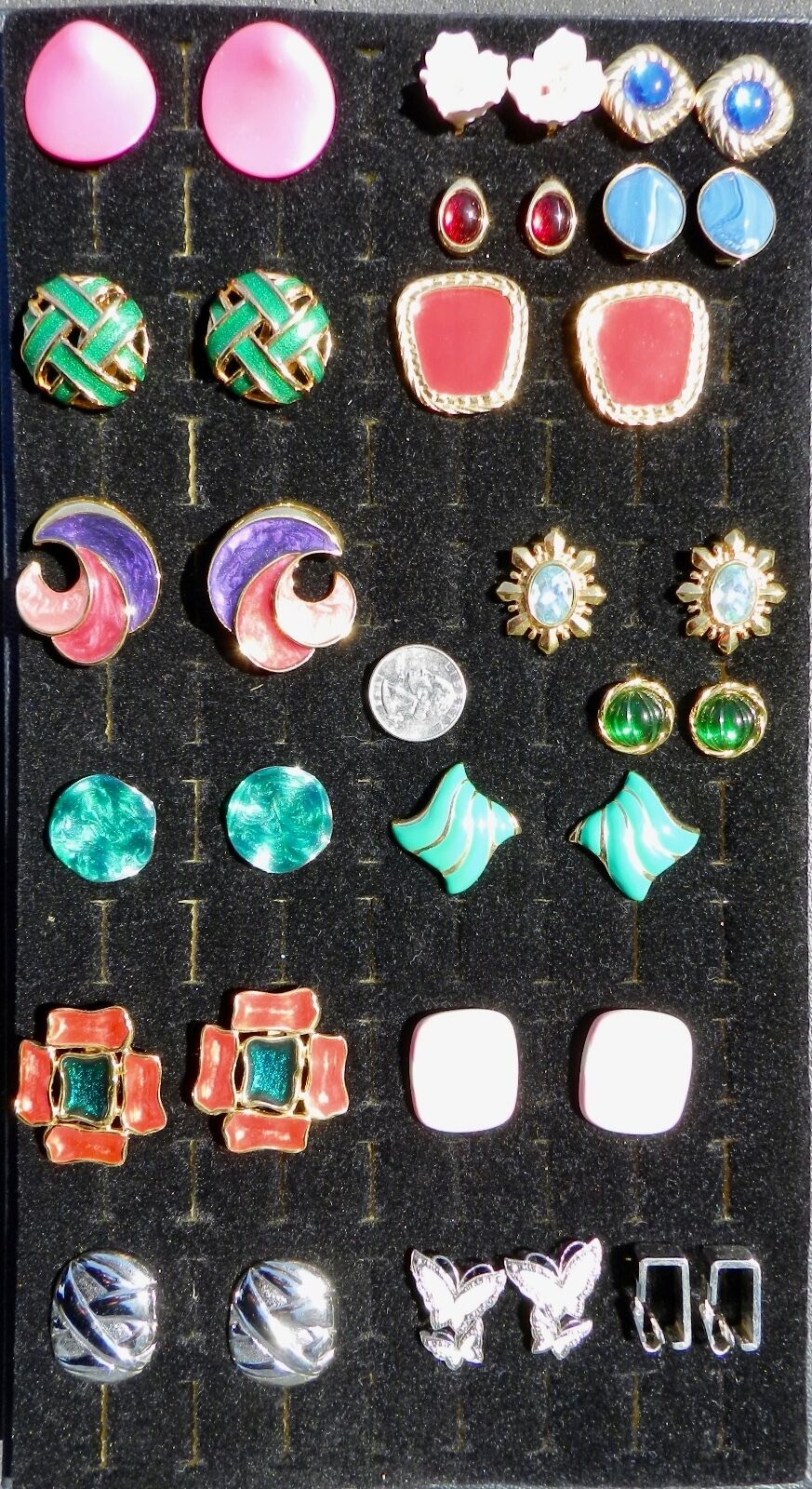 Assorted Fashion 18k gold Plated Clip Earrings 31 Pairs Wholesale Lot Nice