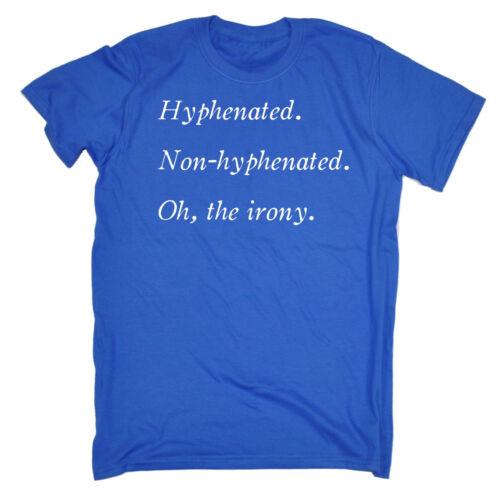 Hyphenated Non-Hyphenated WOMENS T-SHIRT Grammar Pun Top Funny birthday gift