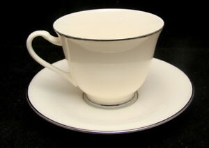 Mikasa China Fine Ivory STANTON PLATINUM LAD11 Cup & Saucer Set(s)