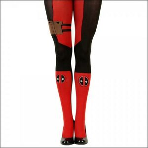 NEW WOMENS MARVEL COMICS DEADPOOL OVER RED KNEE HIGH SOCKS ONE SZ