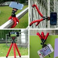 Luxury Octopus Adjustable Universal Tripod +Phone Holder for iPhone Samsung RED