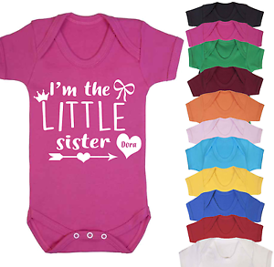 I/'m the Little Sister Baby Vest Babygrow Bodysuit Gifts Baby Shower Gifts