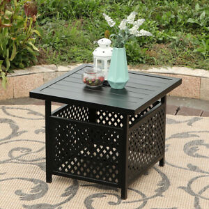 Details About Phi Villa Metal Outdoor Patio 22 Umbrella Bistro Side End Table Base Stand