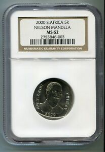 NGC-MS-62-South-Africa-Year-2000-5R-Nelson-Mandela-R5-Smiley-Madiba-Coin