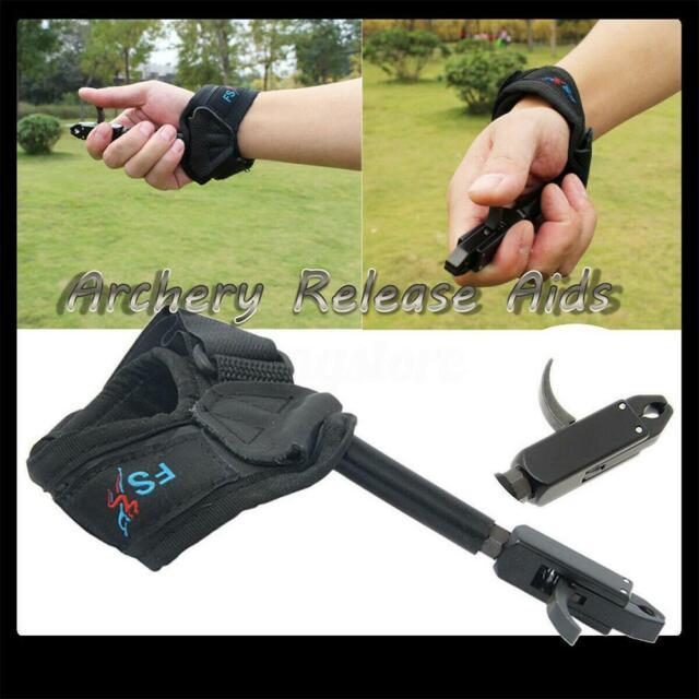 Adjustable Wrist Buckle Strap Arrow Bow Release Aid Caliper Archery Hunting XGNJ