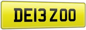 DEBZ-CAR-REG-NUMBER-PLATE-DE13-ZOO-ALL-FEES-PAID-DEBRA-DEBORAH-DEB-DEBBY-DEBBIE