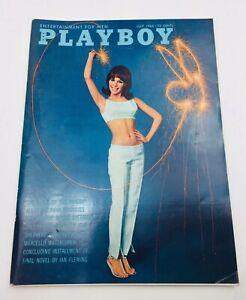 1965-July-PLAYBOY-Ian-Fleming-Shel-Silverstein-Vargas-Pinup-Art-VGC