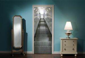 Door-Mural-Sky-Escalator-View-Wall-Stickers-Decal-Wallpaper-114