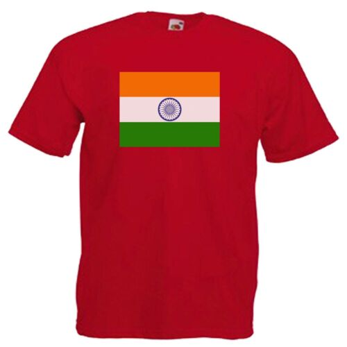 INDIAN FLAG EMBLEM T-SHIRT ALL SIZES /& COLOURS CHARITY