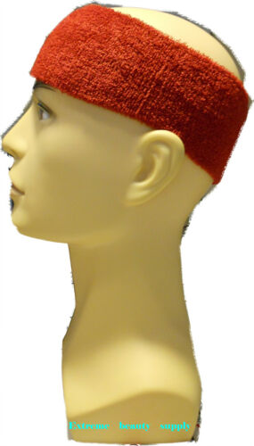 wide football sweatband Sports run Head Band Burgundy