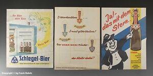 3-x-Einwickelpapier-SCHLEGEL-STERN-BIER-um-1955